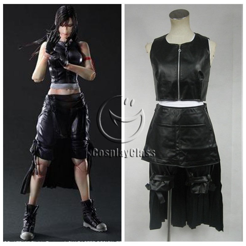 Final Fantasy Vii Tifa Lockhart Cosplay Costume Cosplayclass Advent children and some other appearances, her hair is shorter and reaches the middle of her back. final fantasy vii tifa lockhart cosplay costume