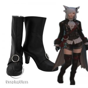 Final Fantasy XIV FF14 Black Magician Cosplay Boots