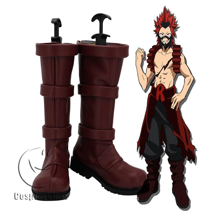 My Hero Academia Kirishima Eijirou Red Cosplay Boots