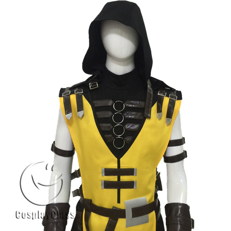 Mortal Kombat X Scorpion Yellow Cosplay Costume Cosplayclass