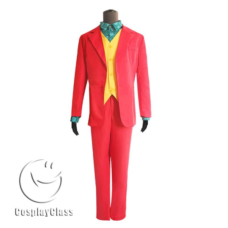 Joker 2019 Movie Arthur Fleck Cos Cosplay Costume Red