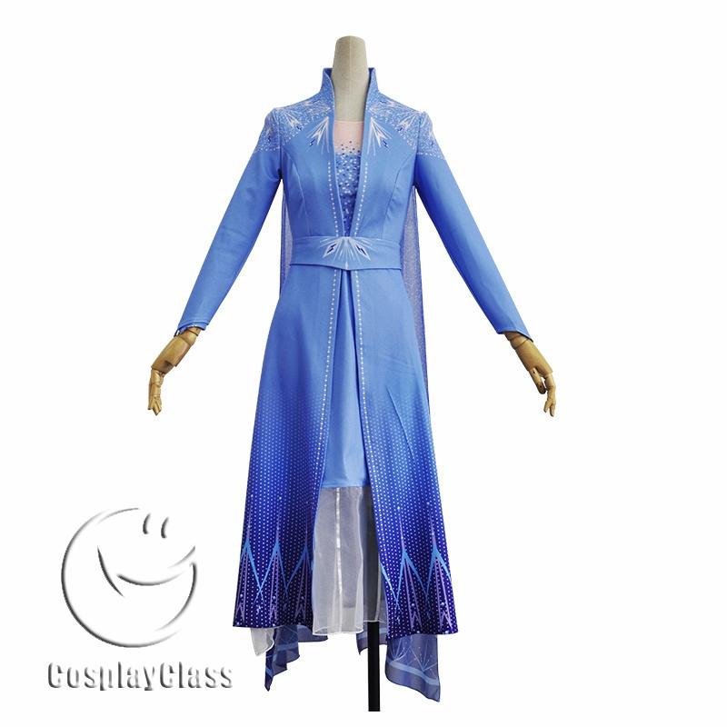 Frozen II Frozen 2 Queen Elsa Cosplay Costume - CosplayClass