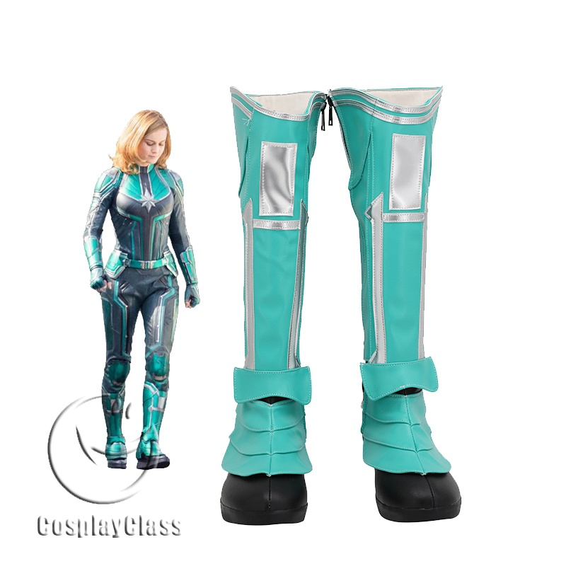 Captain Marvel The Avengers Carol Danvers Cosplay Boots Cosplayclass Carol danvers has worn several costumes over the years as both ms. captain marvel the avengers carol danvers cosplay boots