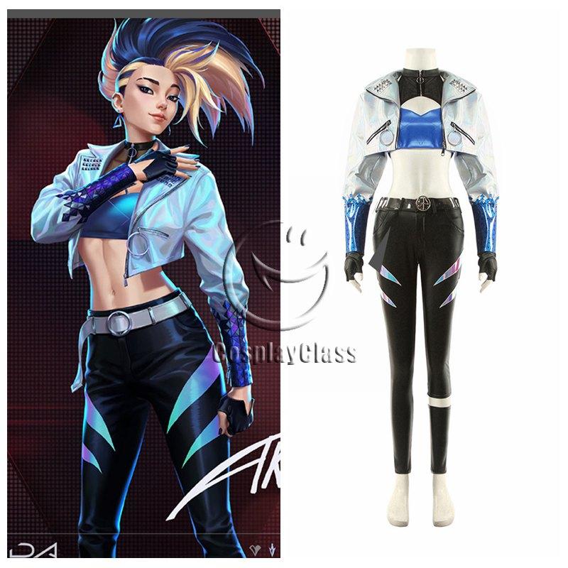 LOL KDA Akali Cosplay Costume from League of Legends KDA 2020